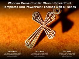 Wooden Cross Crucifix Church Powerpoint Templates And Powerpoint Themes With All Slides