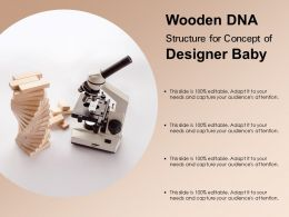 Wooden DNA Structure For Concept Of Designer Baby