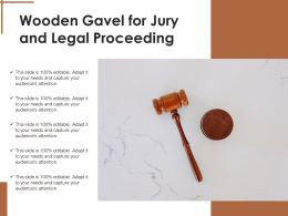 Wooden Gavel For Jury And Legal Proceeding