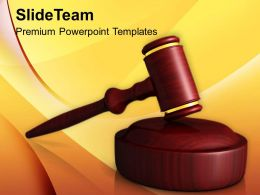 Wooden Gavel Law Powerpoint Templates Ppt Themes And Graphics 0113
