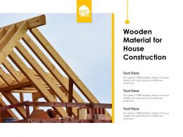 Wooden Material For House Construction
