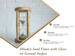 Wooden Sand Timer With Glass On Ground Surface
