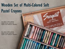 Wooden Set Of Multi Colored Soft Pastel Crayons
