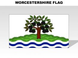 Worcestershire Country Powerpoint Flags