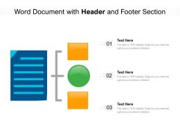 Word Document With Header And Footer Section
