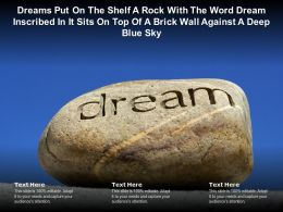 Word Dream On A Brick Against A Deep Blue Sky