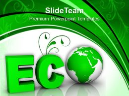 Word Eco Globe And Tree Powerpoint Templates PPT Themes And Graphics 0113