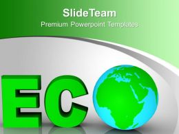 Word Eco Globe Environment Concept PowerPoint Templates PPT Themes And Graphics 0213