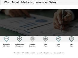 Word Mouth Marketing Inventory Sales Management Business Downtime Cpb
