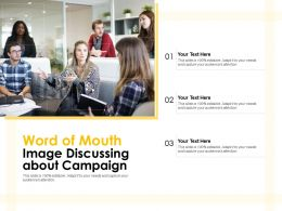 Word Of Mouth Image Discussing About Campaign