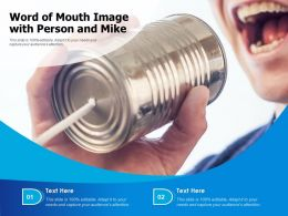 Word Of Mouth Image With Person And Mike