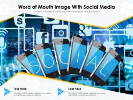 Word Of Mouth Image With Social Media