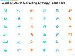 Word Of Mouth Marketing Strategy Icons Slide Ppt Powerpoint Presentation Inspiration Rules