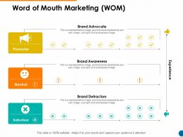 Word Of Mouth Marketing WOM Brand Advocate Ppt Powerpoint Presentation Files