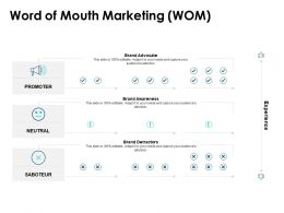 Word Of Mouth Marketing Wom Brand Awareness Ppt Powerpoint Presentation Icon Slides