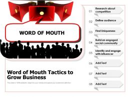 Word Of Mouth Tactics To Grow Business