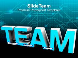 word team teamwork business concept powerpoint templates ppt themes and graphics 0213