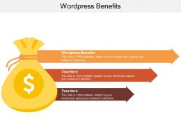 Wordpress Benefits Ppt Powerpoint Presentation Infographic Template Clipart Images Cpb