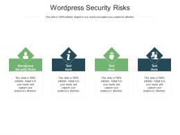 Wordpress Security Risks Ppt Powerpoint Presentation File Images Cpb