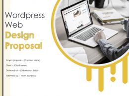 Wordpress Web Design Proposal Powerpoint Presentation Slides