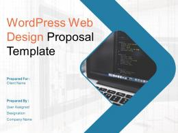Wordpress Web Design Proposal Template Powerpoint Presentation Slides