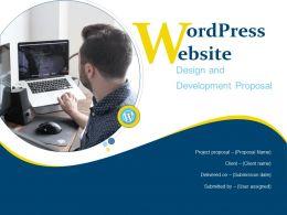 Wordpress Website Design And Development Proposal Powerpoint Presentation Slides