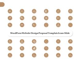 Wordpress Website Design Proposal Template Icons Slide L1262 Ppt Slides