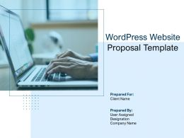 Wordpress Website Proposal Template Powerpoint Presentation Slides
