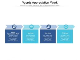 Words Appreciation Work Ppt Powerpoint Presentation Model Aids Cpb