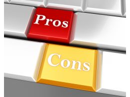 Words Of Pros And Cons On A Keyboard Stock Photo