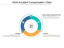 Work Accident Compensation Claim Ppt Powerpoint Presentation Gallery Example Cpb