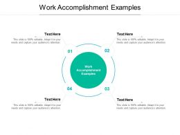 Work Accomplishment Examples Ppt Powerpoint Presentation Templates Cpb