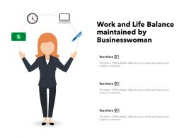 Work And Life Balance Maintained By Businesswoman