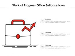 Work At Progress Office Suitcase Icon