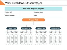 Work Breakdown Structure 1 2 Ppt Powerpoint Presentation Gallery Example