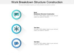 Work Breakdown Structure Construction Ppt Powerpoint Presentation Infographic Template Picture Cpb