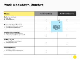 Work Breakdown Structure Duration Ppt Powerpoint Presentation Infographic Brochure