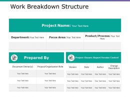 Work Breakdown Structure Example Ppt Presentation