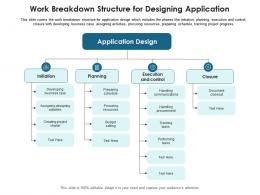 Work Breakdown Structure For Designing Application