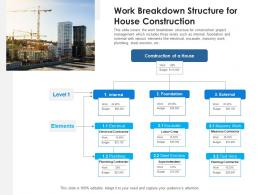 Work Breakdown Structure For House Construction