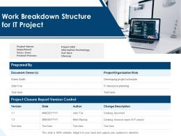 Work Breakdown Structure For It Project