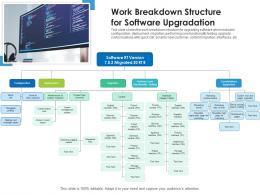 Work Breakdown Structure For Software Upgradation