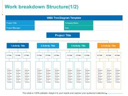 Work Breakdown Structure Management Marketing Ppt Powerpoint Presentation Picture
