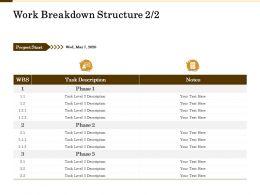 Work Breakdown Structure Notes M2146 Ppt Powerpoint Presentation Inspiration Layout