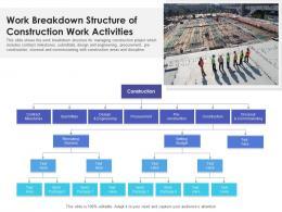 Work Breakdown Structure Of Construction Work Activities