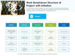 Work Breakdown Structure Of Project With Initiation