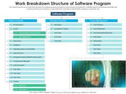 Work Breakdown Structure Of Software Program