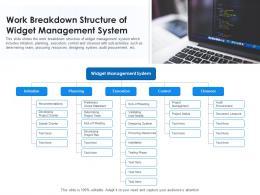 Work Breakdown Structure Of Widget Management System
