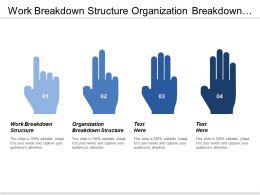 Work Breakdown Structure Organization Breakdown Structure Cost Baseline