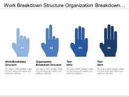 Work Breakdown Structure Organization Breakdown Structure Cost Baseline